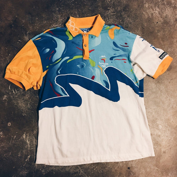 Original 2000 Sydney Olympics Bonds Sports Polo Shirt.