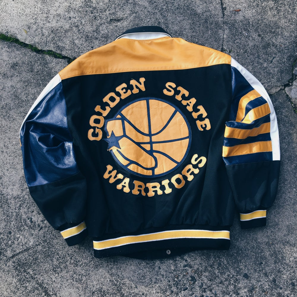 Original 90's Jeff Hamilton Golden State Warriors Jacket.