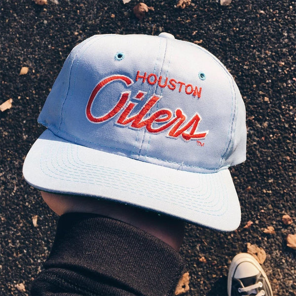 Original 90's Houston Oilers Sports Specialties Snapback Hat.