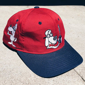 Original 1993 Mr. Peabody American Needle Block-ahead Snapback Hat.