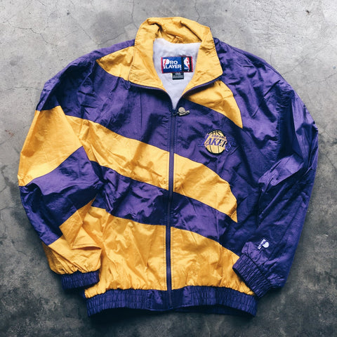 Original 90's Pro Player Los Angeles Lakers Windbreaker Jacket.