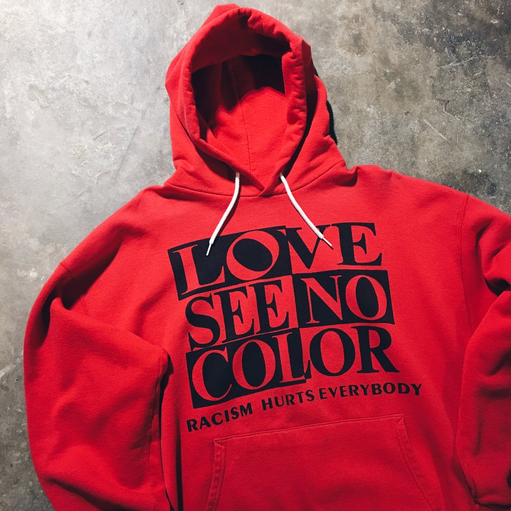 Original Late 80's Racism Hurts Everybody Sweatshirt.