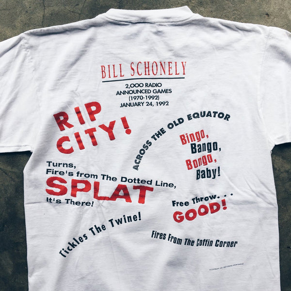 Original 1991 Bill Schonely Rip City Tee.