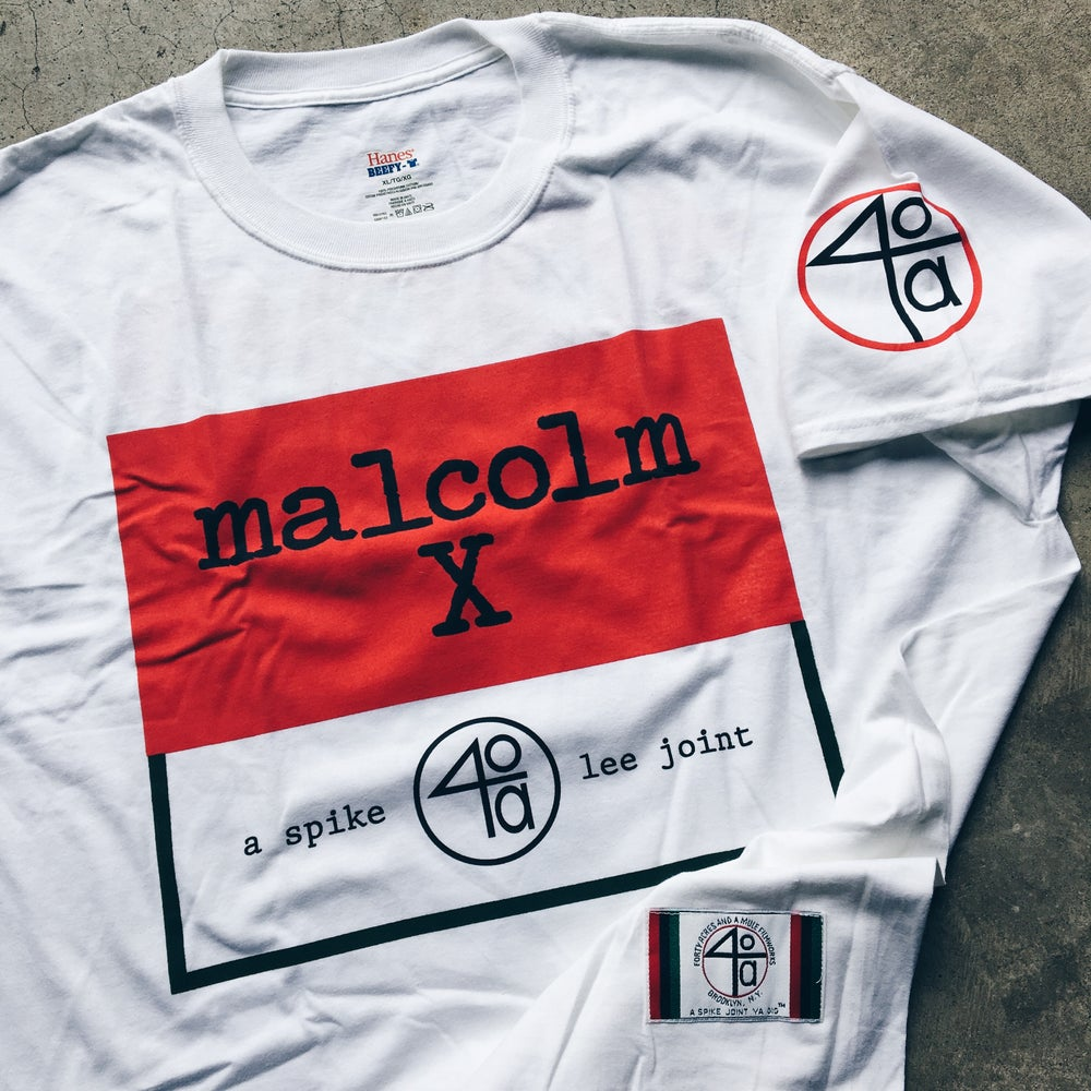 Original 2012 Spike Lee 40 Acres Malcom X 20th Anniversary Promo Tee.