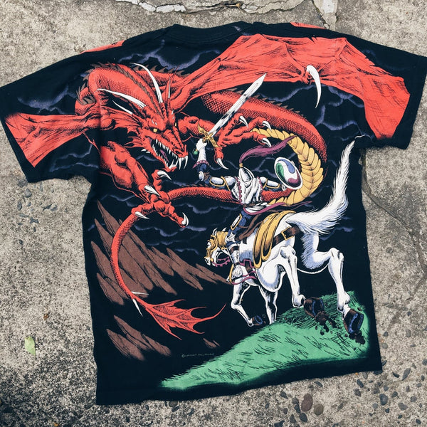 Original 1993 Liquid Blue Dragon Tee.