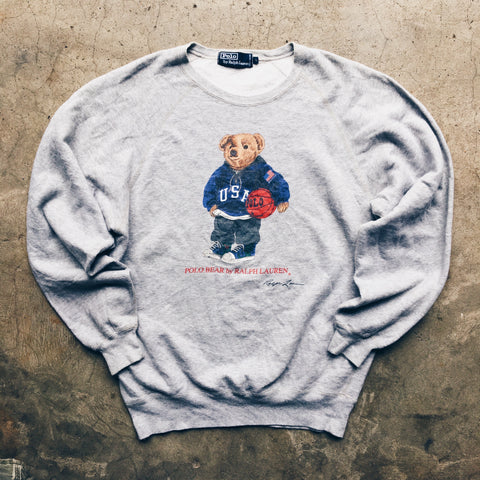 Original 90's Polo Ralph Lauren Polo Bear Crewneck Sweatshirt.