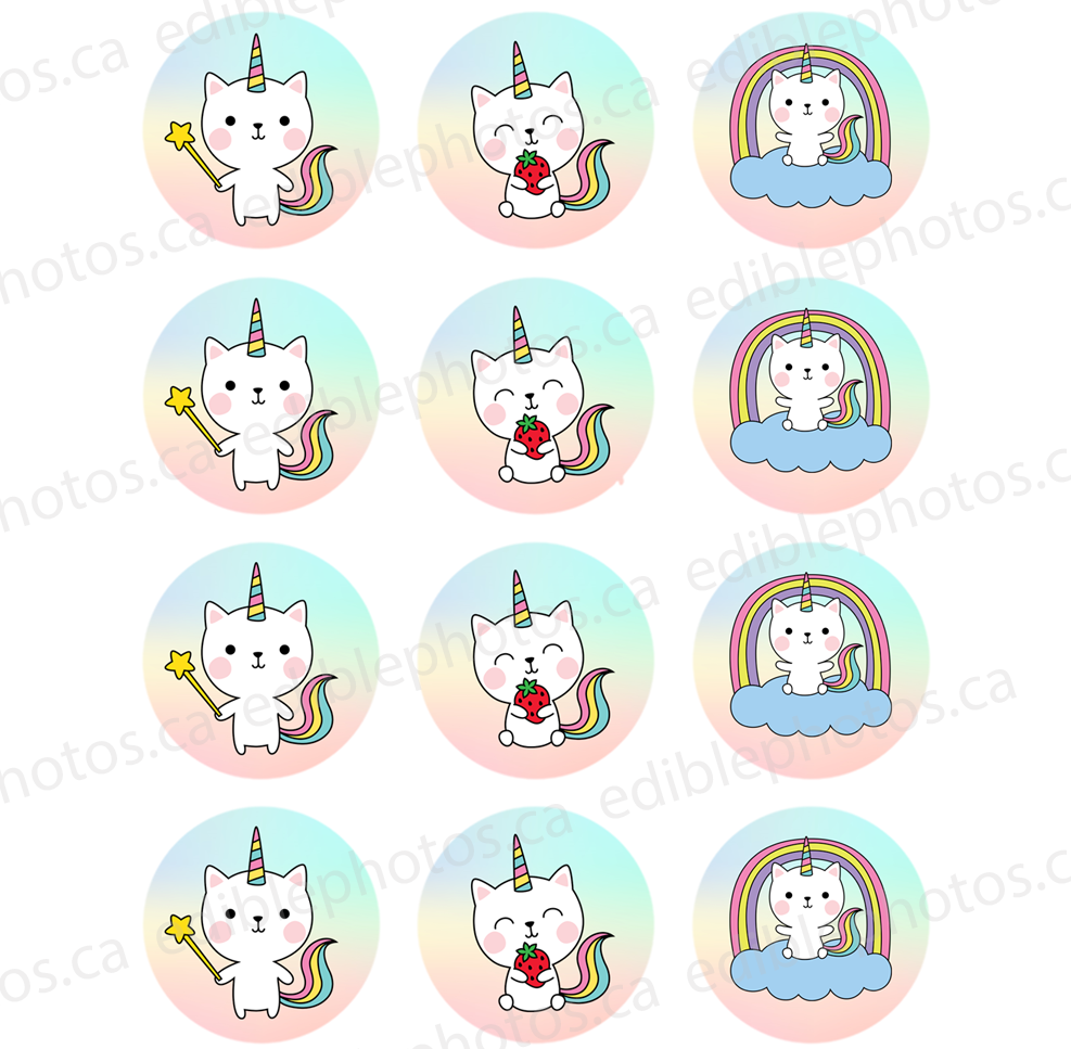Caticorns Funny Edible Cupcake or Cookie Photos (12)