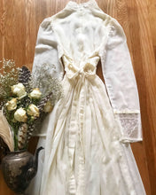 Load image into Gallery viewer, Authentic 1970's vintage ivory voile Gunne Sax maxi dress