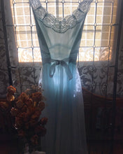 Load image into Gallery viewer, Authentic 1960's pair sky blue Vanity Fair 2 piece peignoir set