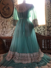 Load image into Gallery viewer, Authentic 1970's Vintage Winter Ice Chiffon Intime of California peignoir Robe