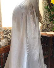 Load image into Gallery viewer, 1930's 1940's vintage platinum liquid satin wedding gown