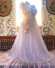 Load image into Gallery viewer, Authentic 1970's vintage pink voile Gunne Sax maxi dress