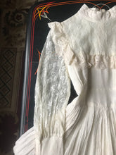 Load image into Gallery viewer, 1970's vintage ivory crepe Gunne Sax dress
