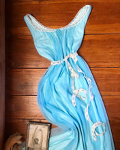 Load image into Gallery viewer, Authentic 1970's vintage Miss Elaine peignoir robe and nightgown set