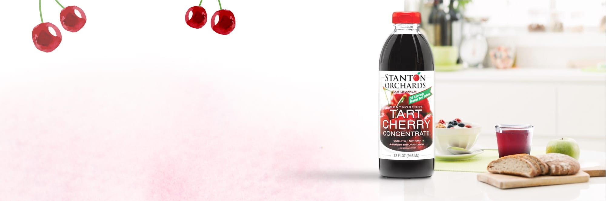 Stanton Orchards' tart cherry concentrate removes free radicals inside the body to help deter cancer
