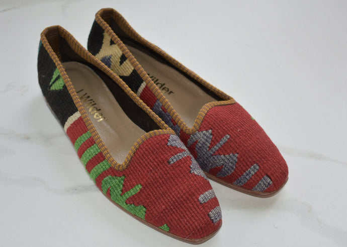 one of a kind kilim loafers women's size 7