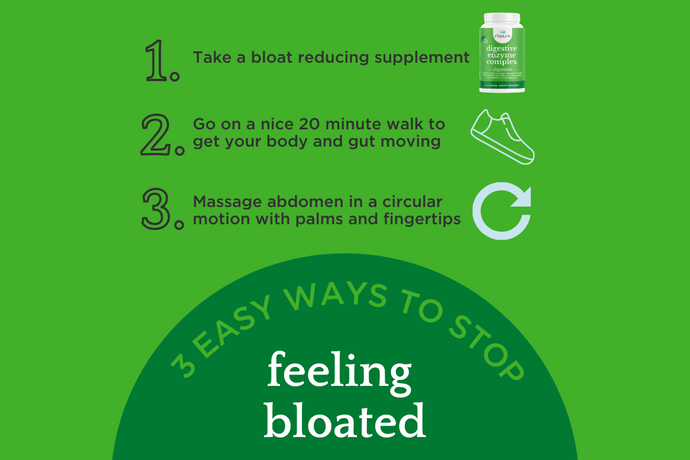 Stop Feeling Bloated Fast with These 3 Easy Ways