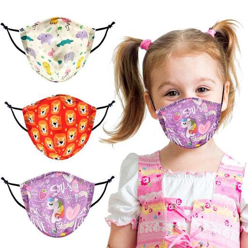 ★3 Pack★ Toddlers & Kids 3 Pack Graphic Print Face Mask - TOUGH COOKIE CLOTHINGproduct_vendor#COTTON