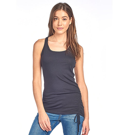 Adjustable Side String Racer Back Tank Top - TOUGH COOKIE CLOTHINGproduct_vendor#ACTIVE WEAR
