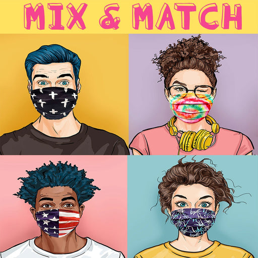 Adult MIx & Match Fun Graphic Face Mask - TOUGH COOKIE CLOTHINGproduct_vendor#COTTON