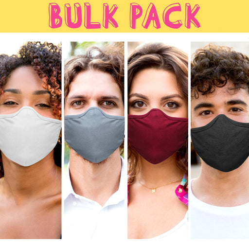 Bulk Pack 3D Adjustable Solid Color Face Mask - TOUGH COOKIE CLOTHINGproduct_vendor#COTTON
