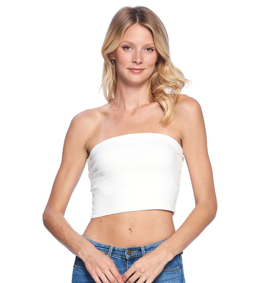 Cotton Cropped Tube Top - TOUGH COOKIE CLOTHINGproduct_vendor#ACTIVE WEAR