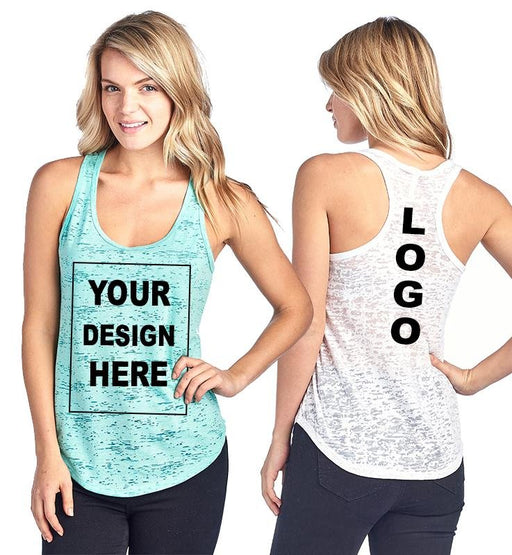 Custom Print Burnout Tank Top - TOUGH COOKIE CLOTHINGproduct_vendor#ACTIVE WEAR