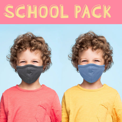 Kids School Mask Pack Solid Color Face Mask - TOUGH COOKIE CLOTHINGproduct_vendor#COTTON