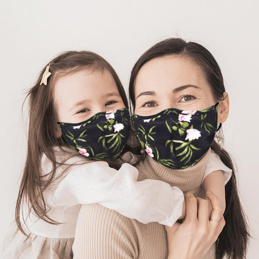 Mommy and Me Black Floral Mask - TOUGH COOKIE CLOTHINGproduct_vendor#COTTON