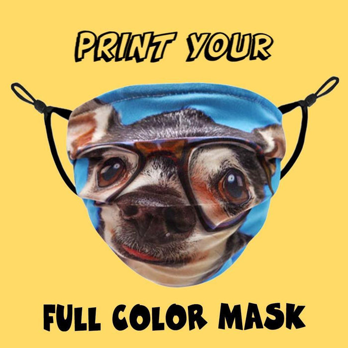 Pleated Full Color Custom Face Mask - TOUGH COOKIE CLOTHINGproduct_vendor#COTTON