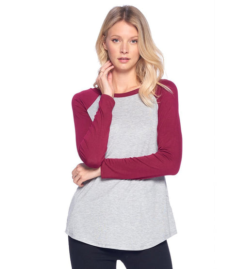 Raglan Baseball Causal Top - TOUGH COOKIE CLOTHINGproduct_vendor#ACTIVE WEAR