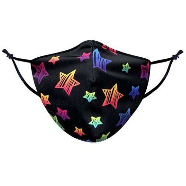 Rainbow Star Pattern Face Mask - TOUGH COOKIE CLOTHINGproduct_vendor#COTTON