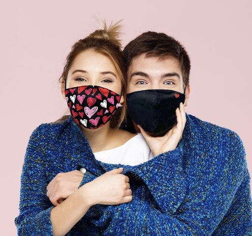 Red Hearts Valentine's Day Graphic Face Mask - TOUGH COOKIE CLOTHINGproduct_vendor#COTTON