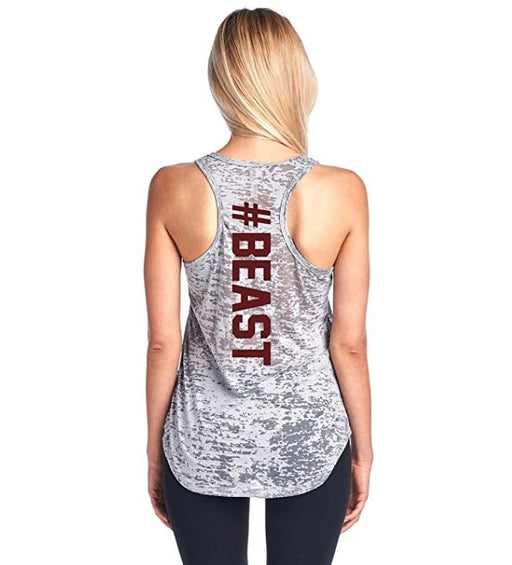 Tough Cookie's Women's #Beast Burnout Yoga Tank Top - TOUGH COOKIE CLOTHINGproduct_vendor#ACTIVE WEAR