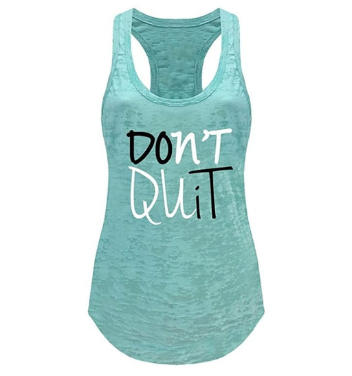 Tough Cookie's Women's Don't Quit Do It Printed Art Burnout Tank Top - TOUGH COOKIE CLOTHINGproduct_vendor#ACTIVE WEAR
