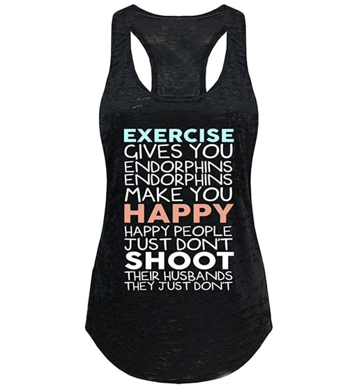 Tough Cookie's Women's Exercise Give You Endorphins Burnout Yoga Tank Top - TOUGH COOKIE CLOTHINGproduct_vendor#ACTIVE WEAR