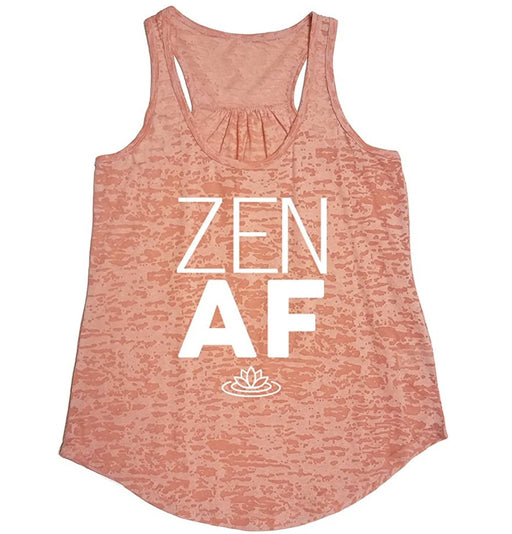 Tough Cookie's Women's Flowy Burnout Zen AF Printed Workout Yoga Tank Top - TOUGH COOKIE CLOTHINGproduct_vendor#ACTIVE WEAR