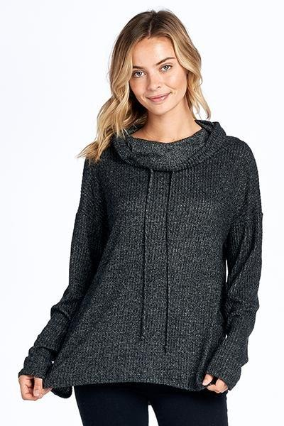 Turtle Neck Sweater Top - TOUGH COOKIE CLOTHINGproduct_vendor#ACTIVE WEAR
