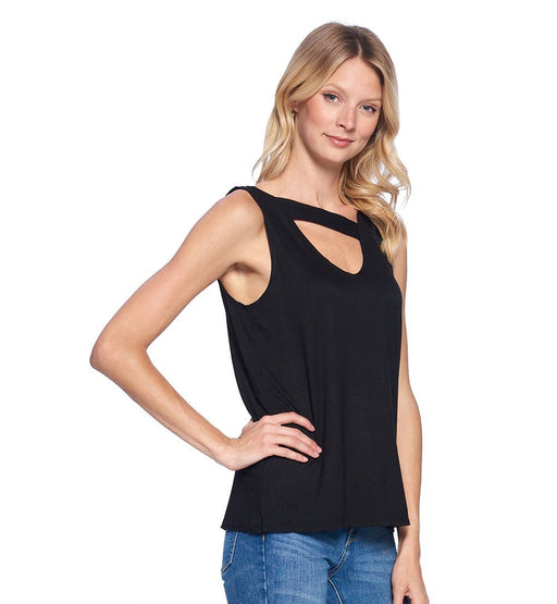 Unbalanced Cutout Tank Top - TOUGH COOKIE CLOTHINGproduct_vendor#ACTIVE WEAR