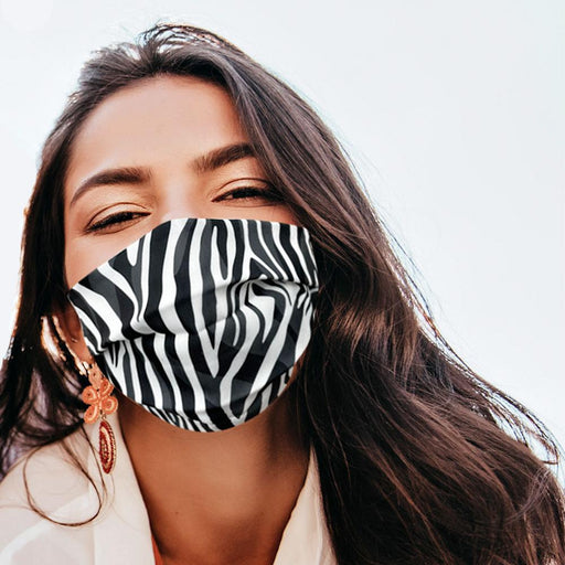 Zebra Graphic Pattern Face Mask - TOUGH COOKIE CLOTHINGproduct_vendor#COTTON