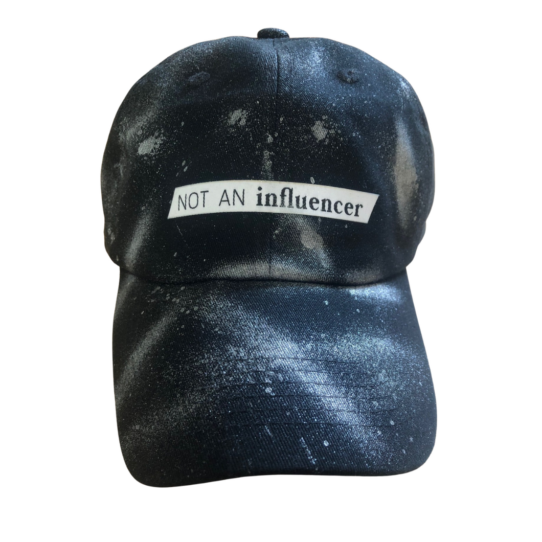 NEW! Silver Spray Paint NOT AN influencer Ball Cap