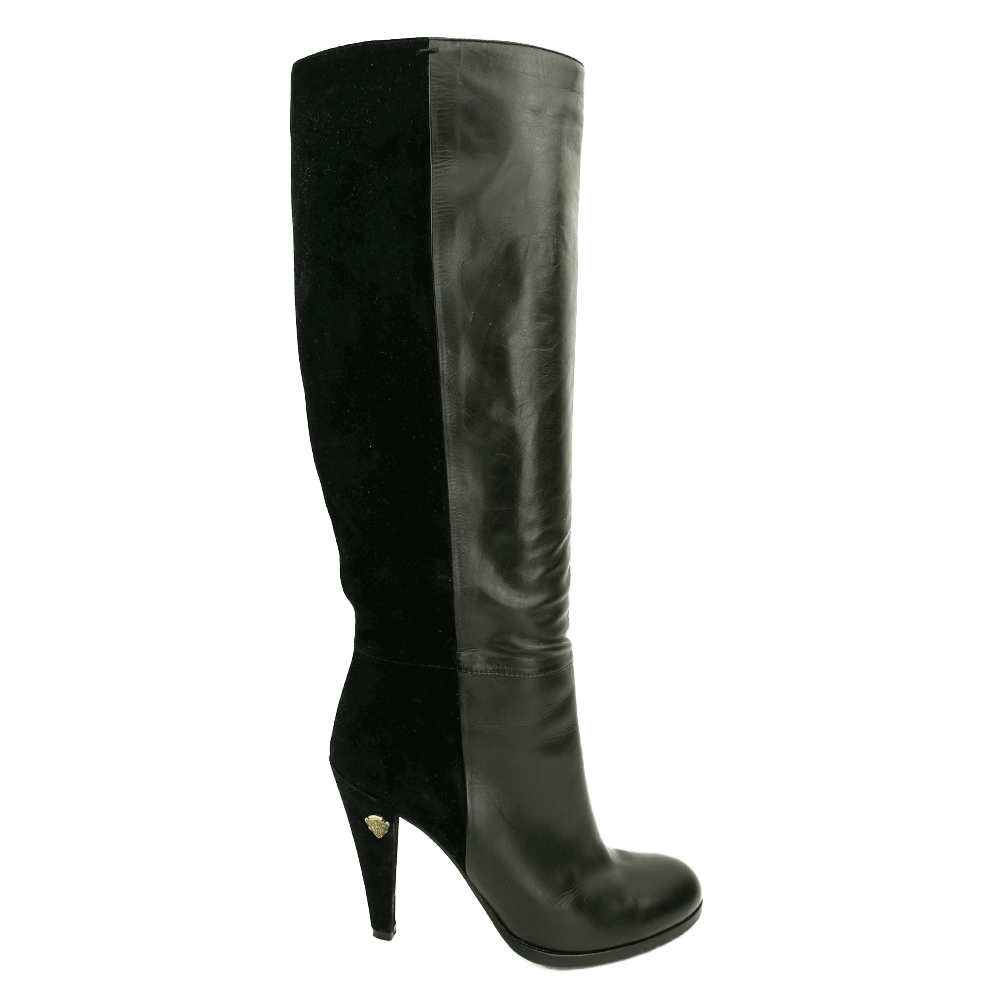 Gucci black suede knee boots