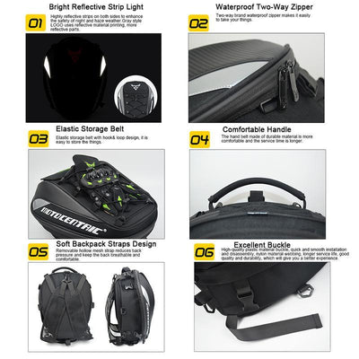 Waterproof Motorcycle Tail Bag