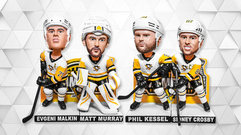 Back to Back Stanley Cup Champions 4-Piece Bobblehead Set