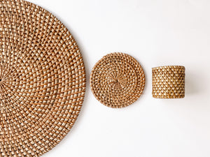 "Load image into Gallery viewer, Rattan Plate Chargers ""Plate Up"""