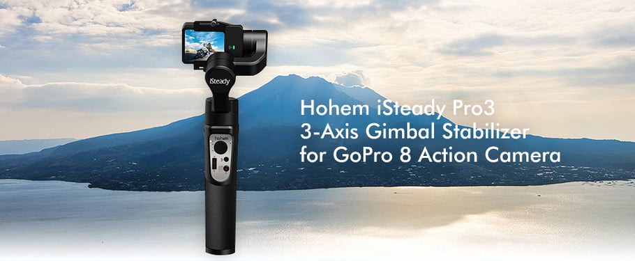 Best Accessory for action cameras: Hohem iSteady Pro3 3-Axis Gimbal Stabilizer for GoPro