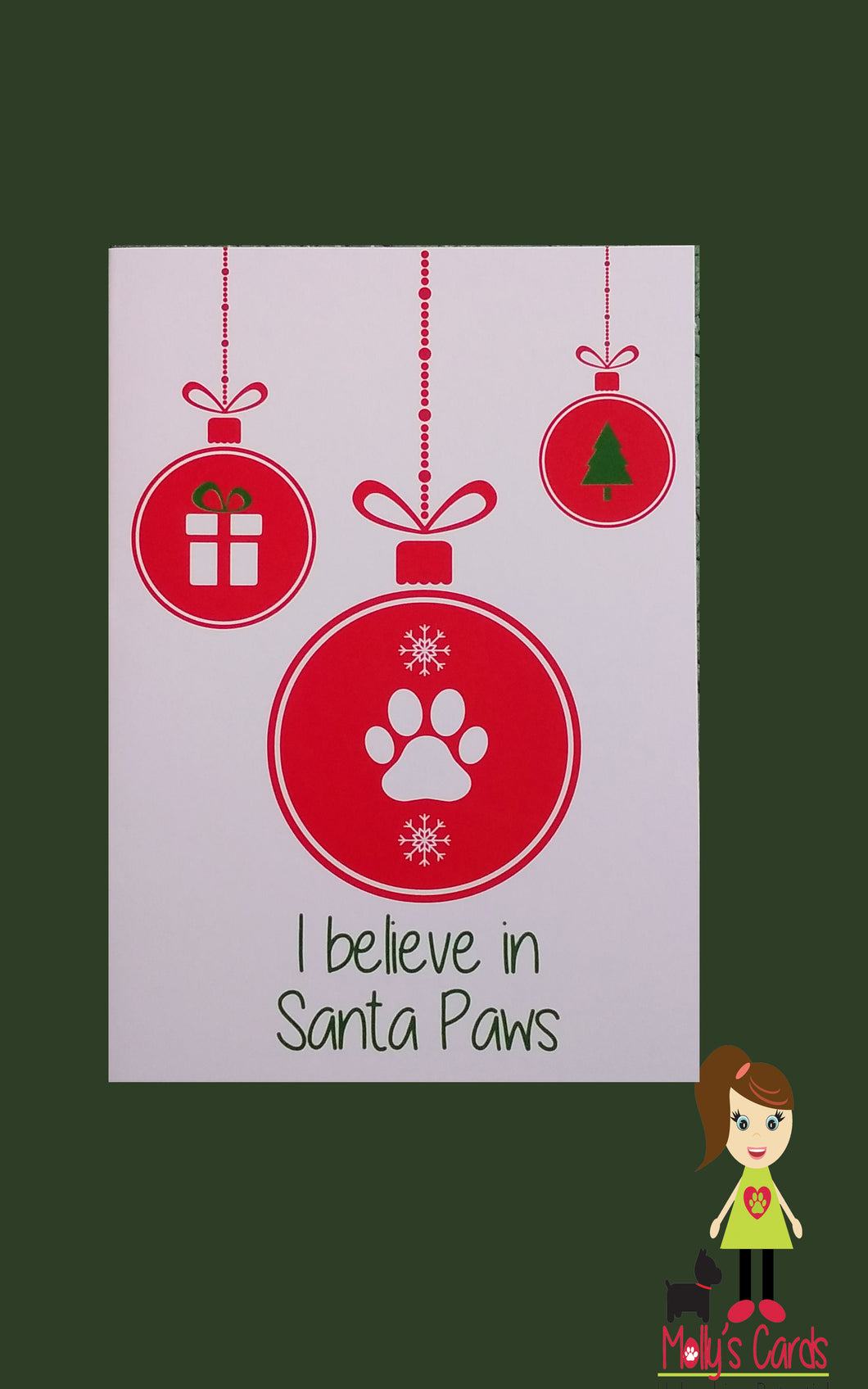 I believe in Santa Paws Christmas card