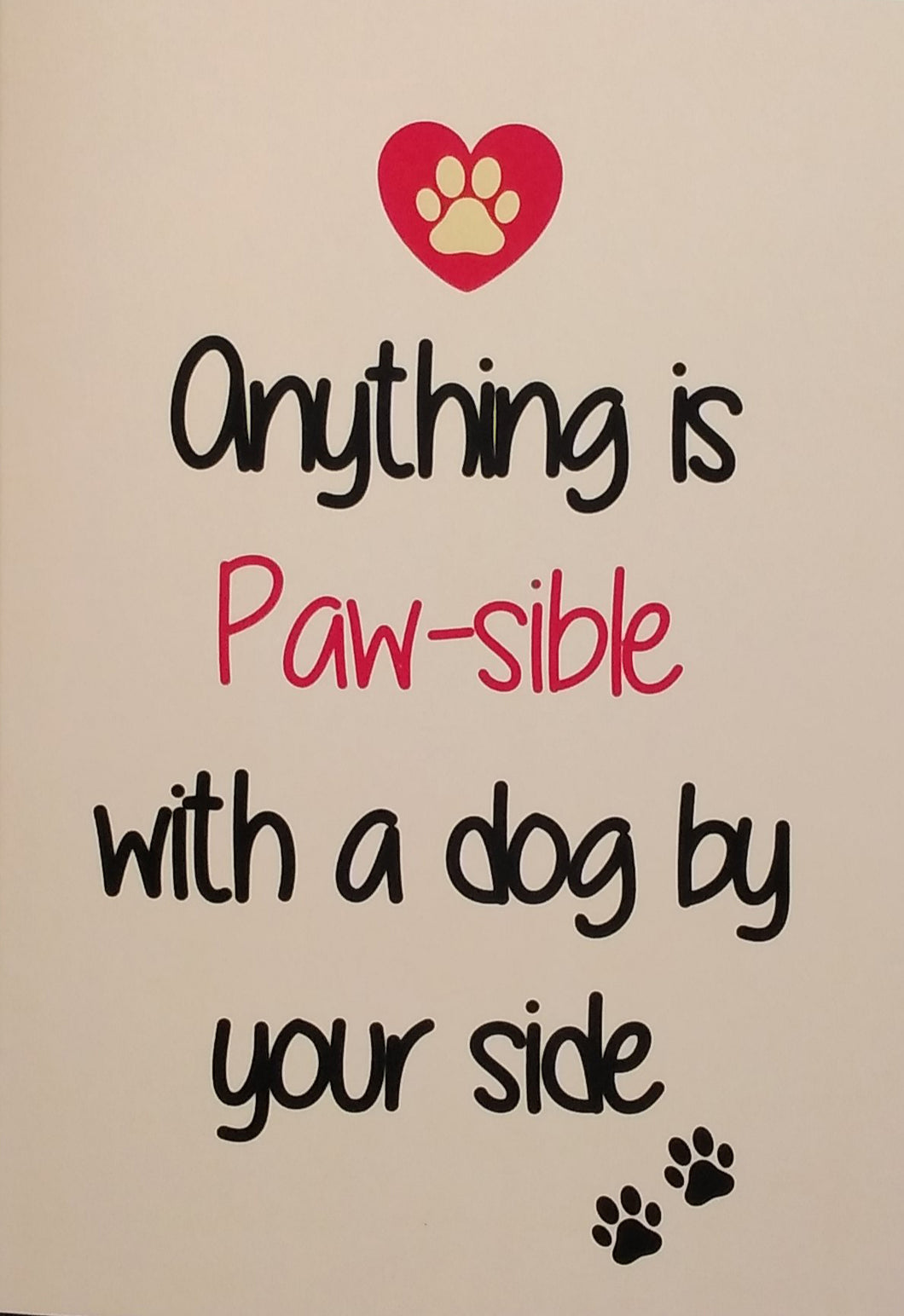 Anything is Pawsible card