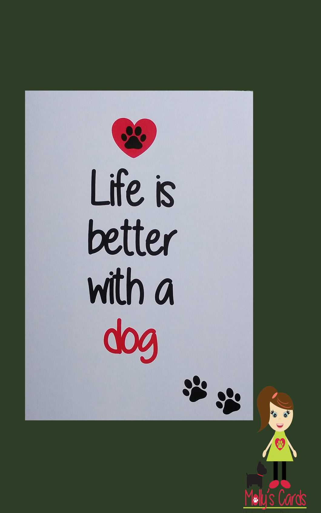 Life is better with a dog card