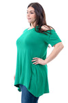 Cold Shoulder Tunic Plus Size